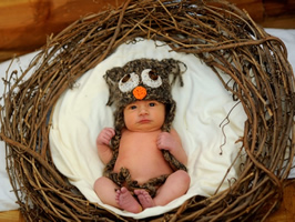 Baby Sky in the Nest