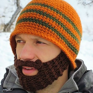 Knit Cap with Beard