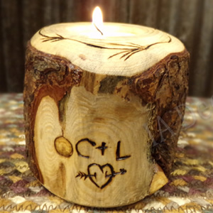 Carved Tree Tea Light