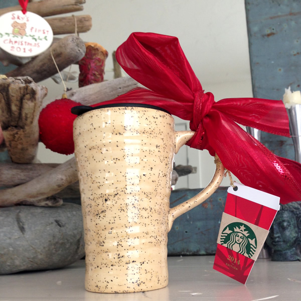 Handmade Ceramic Coffee Mug with Starbuck's Gift Card